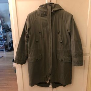 Rag and bone military parka size large